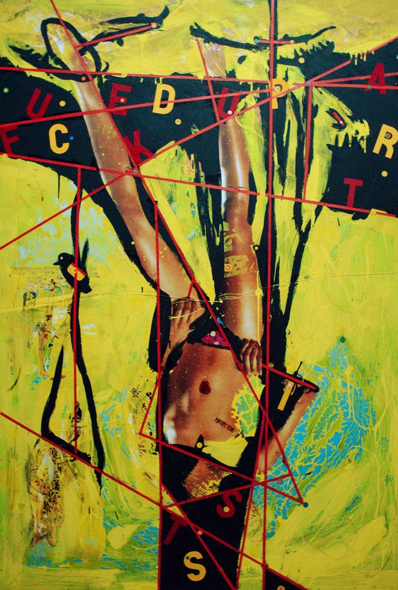 Fucked up art,1,50x2,00cm,mixed media .