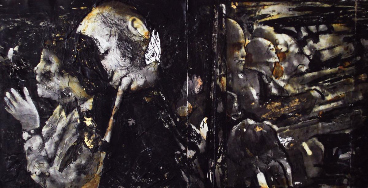 Il purgatorio,20x40cm,mixed media on wood