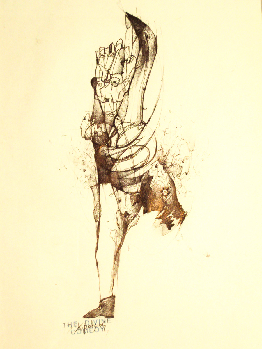 The Complex Life of Cosmopolitan Bodies,22X30cm,ink on paper.