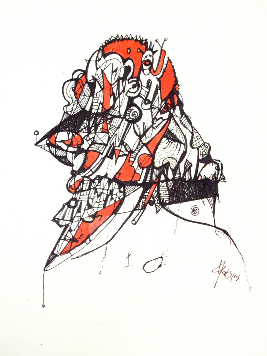 Untitled,22x30cm,ink on paper.