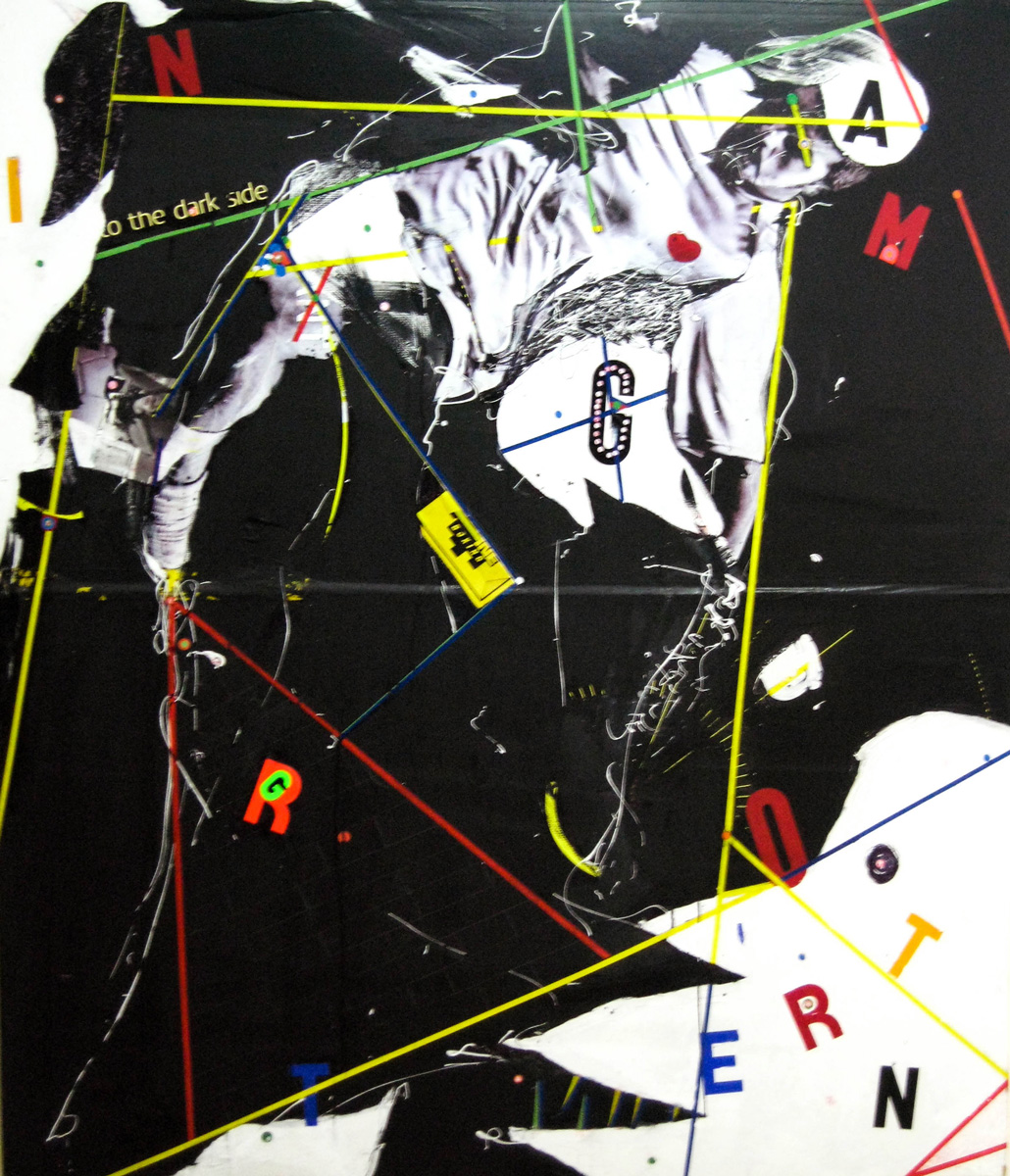 The myth of the cave,1,50x2,00cm,mixed media.