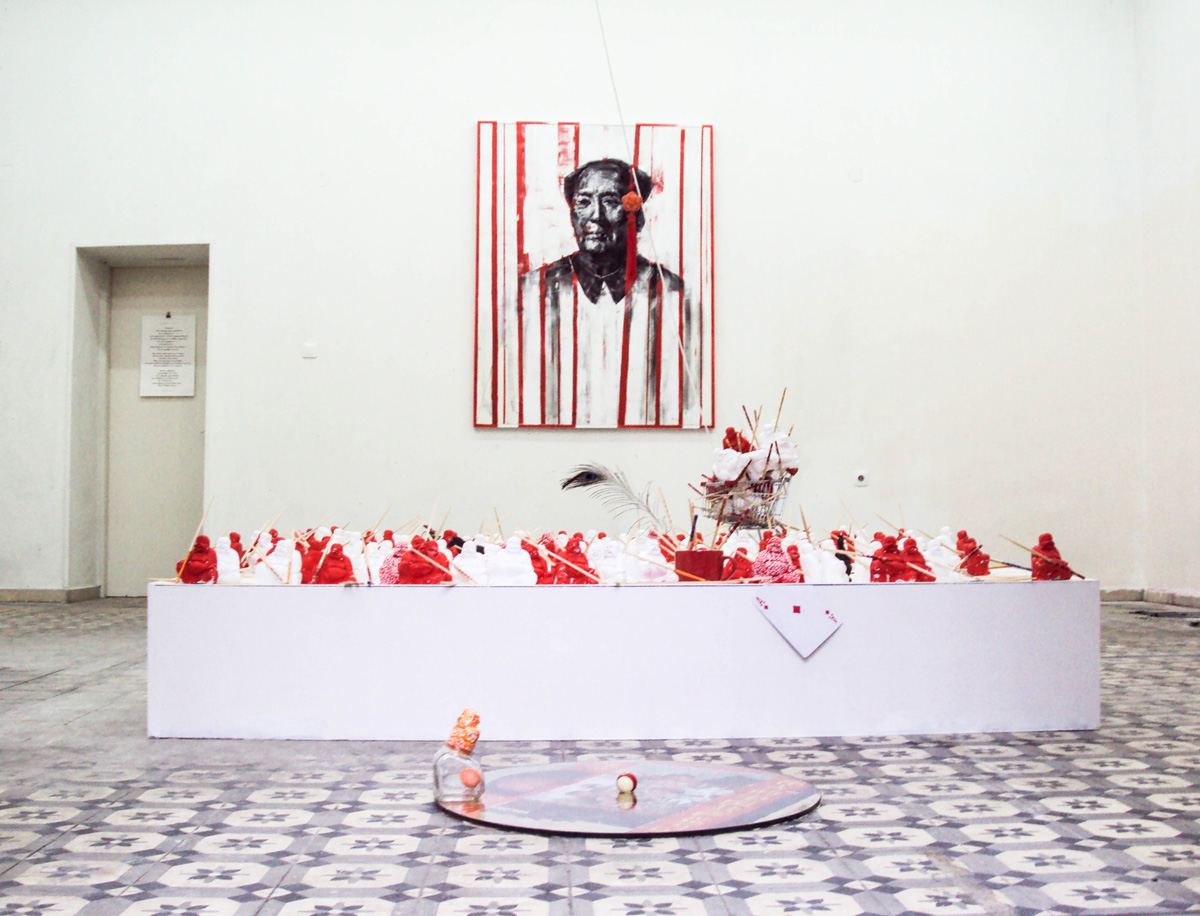 Sugarmao,2,00x2,00,installation view.