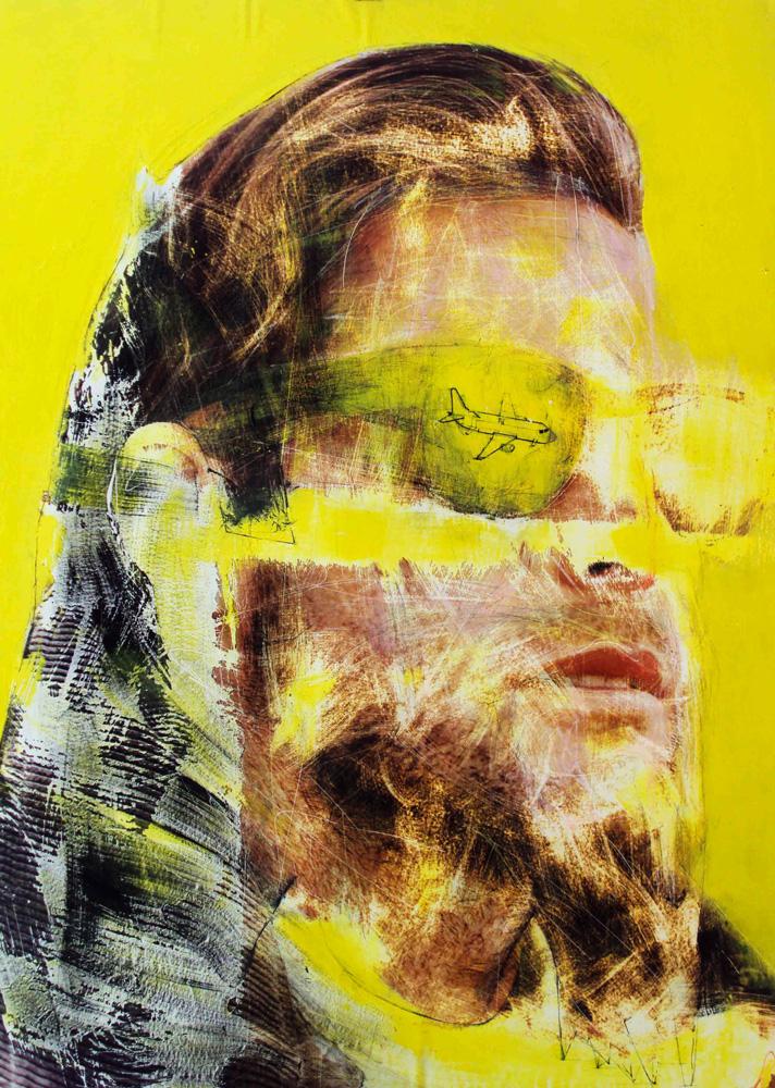 Le prophete ,90x1,30cm,oil on wood.