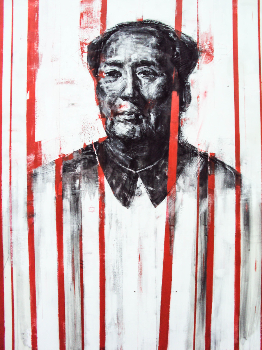 Mao la cage,1,20x1,90,oil on canvas