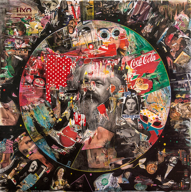 2019_Never-mind-the-Marx,150x150cm,mixed-media-on-canvas,2017